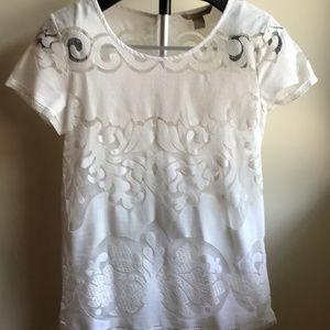 Banana Republic white shirt with white cami
